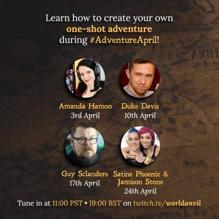 Adventure April interviews