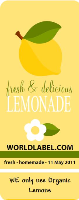 Lemonade Labels For Your Lemonade Stand Worldlabel Blog