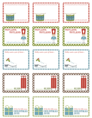Free Printable Holiday Labels By
