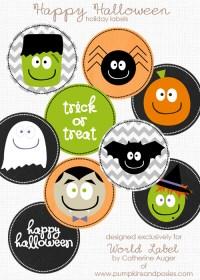 halloween free printables labels