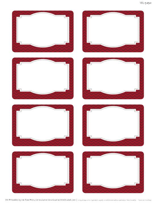 Chevron Fever Free Printable Labels Free Printable Labels Amp Templates Label Design