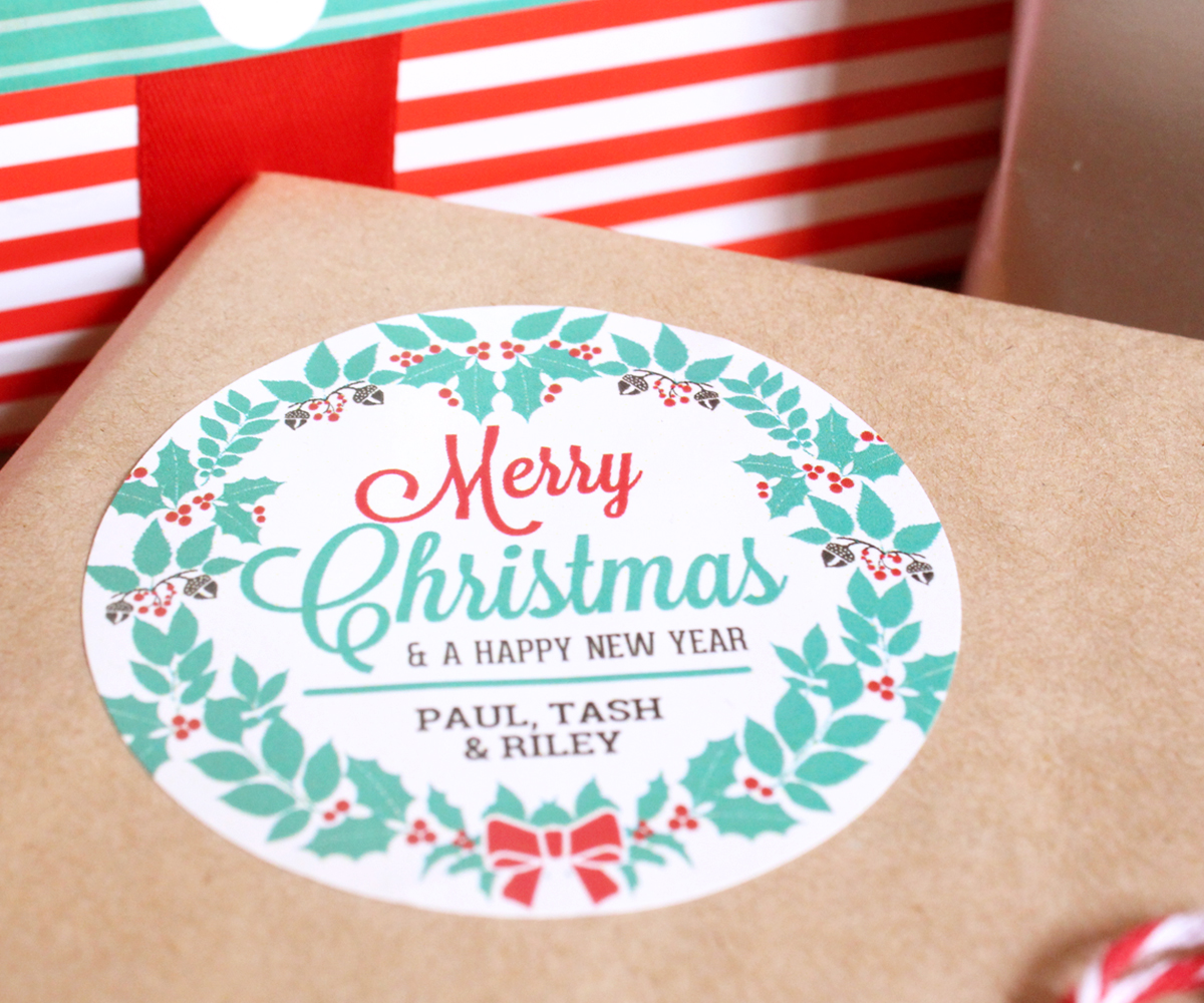 Merry Christmas Labels By Little Paper Sparrow