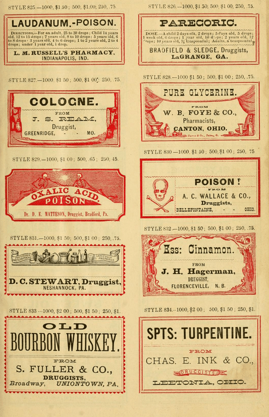Sample Book Of Vintage Druggists Labels Worldlabel Blog