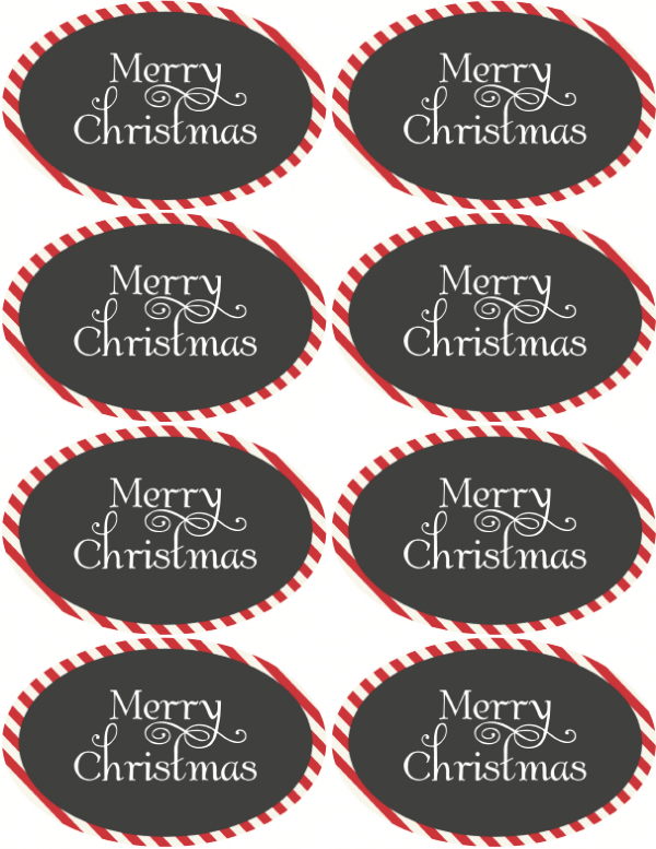 Christmas Amp Holiday Assorted Circle And Oval Labels