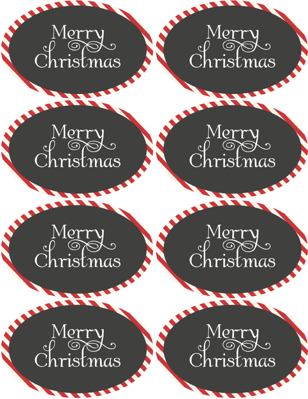 Christmas Amp Holiday Assorted Circle And Oval Labels Free Printable Labels Amp Templates Label