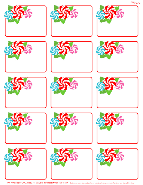Peppermint Please Christmas Printable Labels Amp Tags