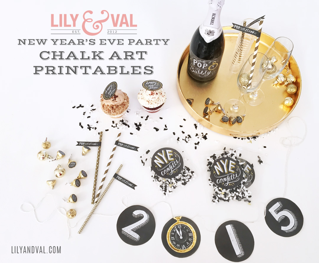 New Year S Eve Party Printables By Lily Amp Val