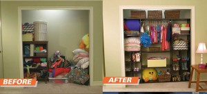 Before and After the Closet Organizer