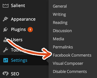 WordPress Dashboard Settings