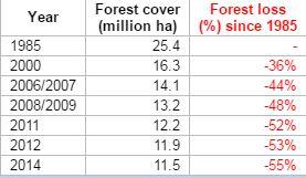 EOF Chart - Sumatra Deforestation