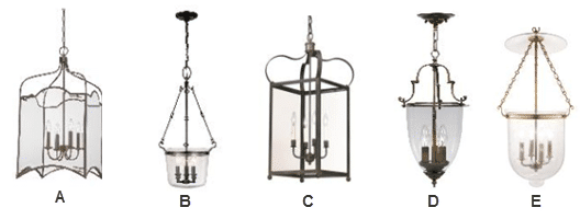 Colonial Style Hanging Lanterns Lighting