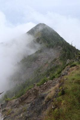 池口岳北峰 南峰方面から