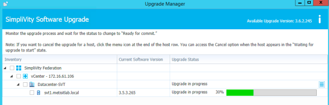 SimpliVity Upgrade Manager – Yannick Arens