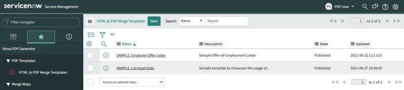 HTML to PDF Templates