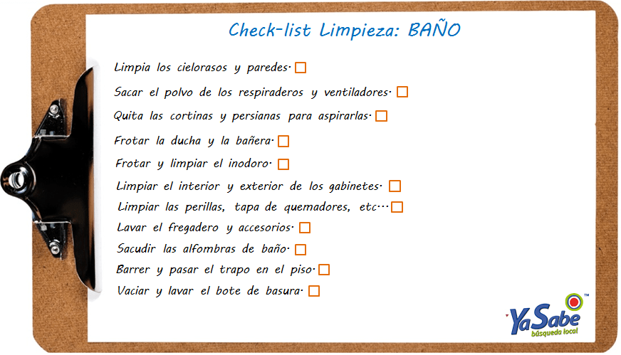 check-list-baño