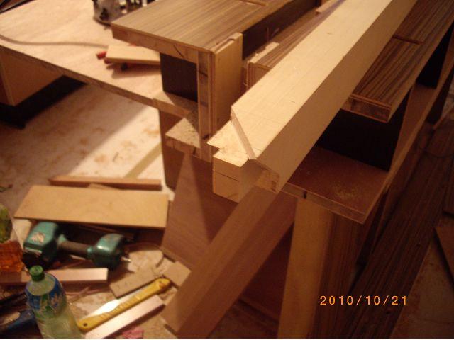 木工裝潢-美檜實木電視櫃的作榫施工記錄