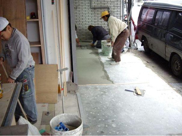 水泥工程-抿石子施工照片抿石子施工照片