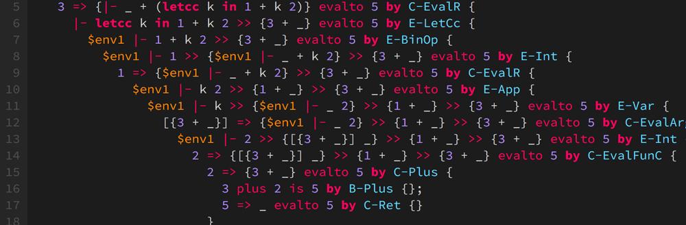「プログラミング言語の基礎概念」演習システムのための Syntax Highlighting