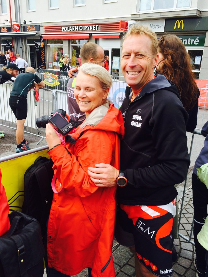 Tävlingschefen Anders med fru. :-)