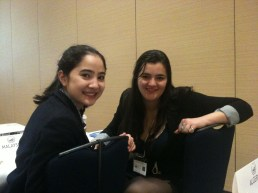 Sophie & Isabella (WHO committee session)