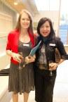 Associate Director, Annual Fund, Fiona Beaty, and Lisa Tsai, YHS Parents' Association President.