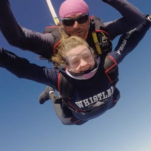 I went skydiving! I thought I am doing a gap year to push myself and try new things so why not do something insane! It was a great experience and taught me a lot about myself and it was just super cool.