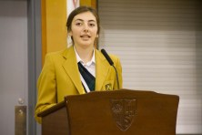 Maggie speaking at Founders' Day