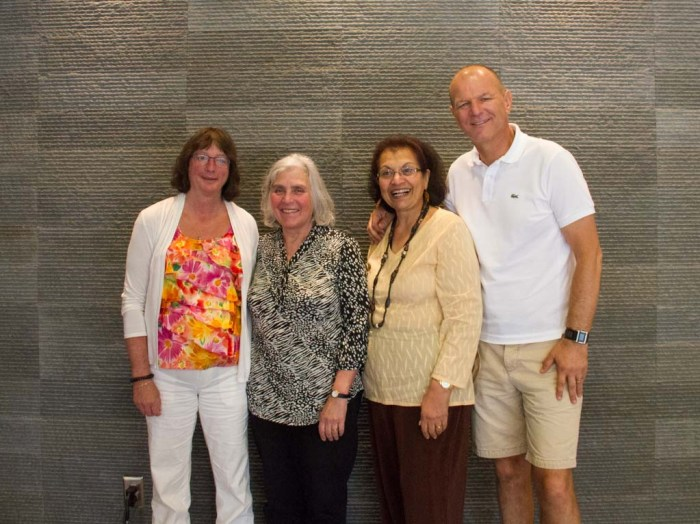 L-R: Sylvia Hanson, Lynne Massel, Nita Rodrigues, and Alek Bester