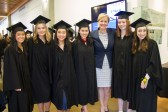 Graduates with Head of School, Julie Rousseau