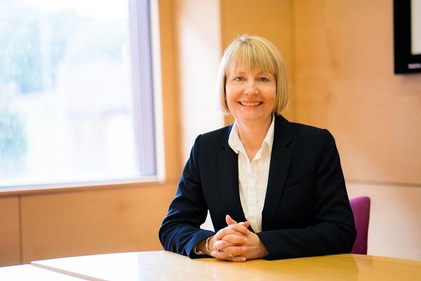 Vice Chancellor Karen Stanton at desk