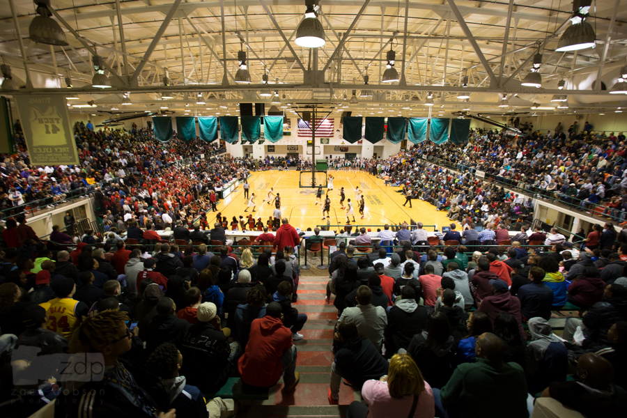 This sectional matchup was absolutely packed. I had to get to the highest point in the gym to fully show the crowd.