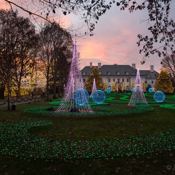 Winterlights at Newfields Indianapolis