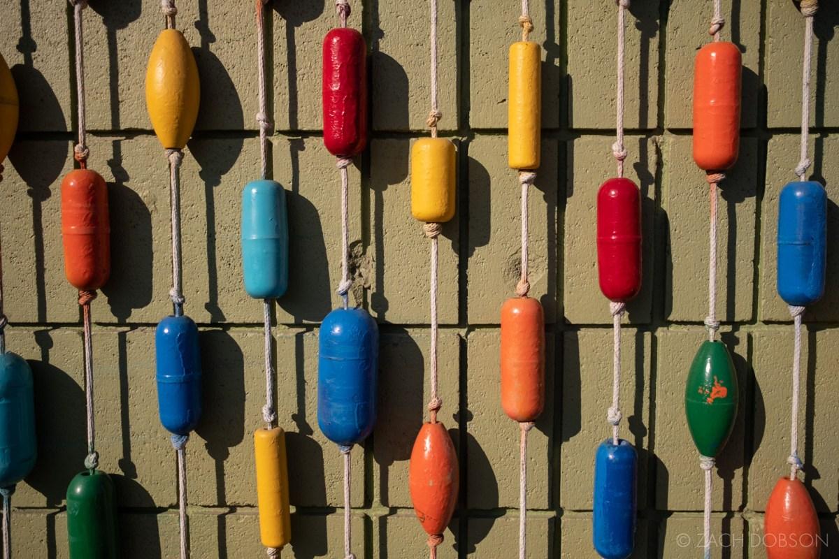 buoys on wall