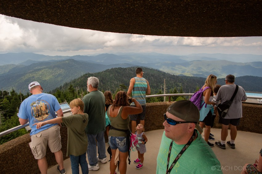 Great Smoky Mountains National Park Clingman's Dome visitors