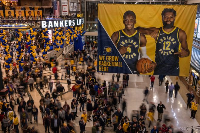 Indiana Pacers fans at Bankers Life Fieldhouse