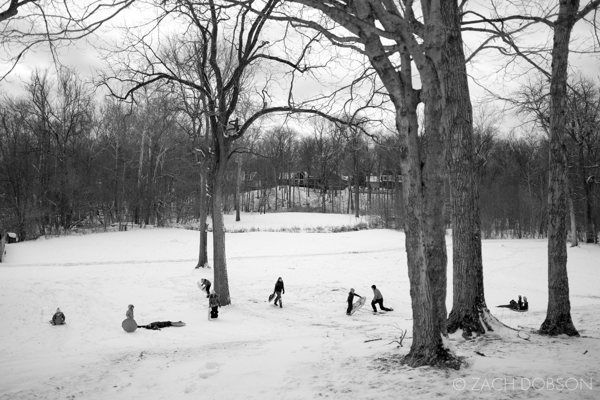 winter sledding snow photography