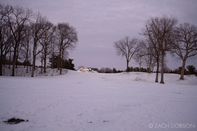 snow photo at dusk in indiana