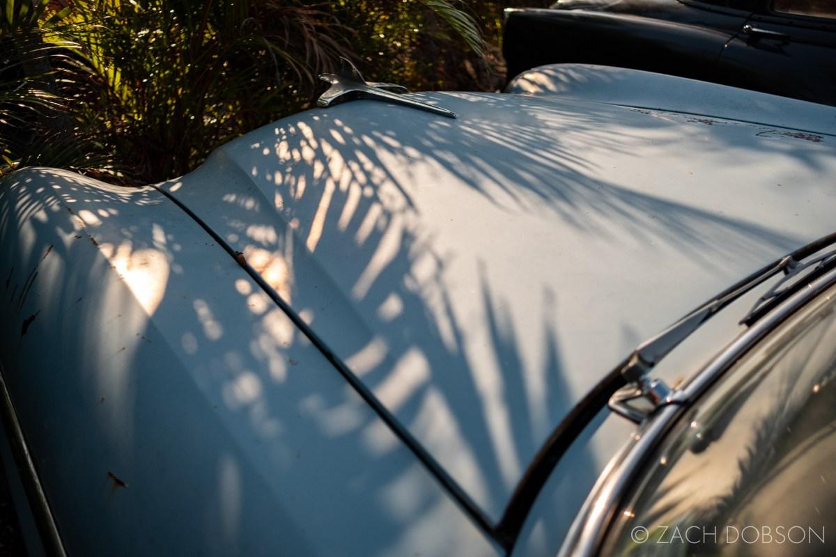Old Packard automobile outside Homestead Florida Cuban restaurant Havana Spice