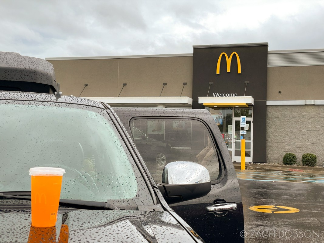travel with kids - stopping at McDonald's