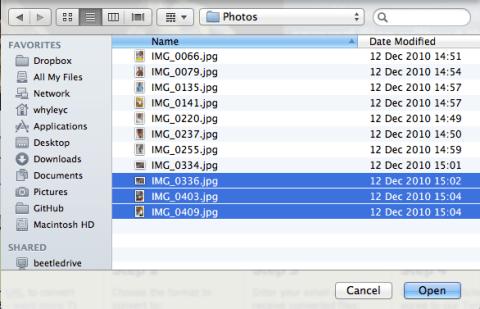 Multi file select