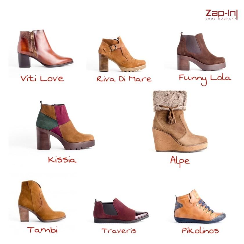 Selección de botines mujer en varios estilos.