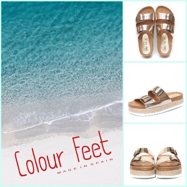 Sandalia bio crackelada Colour Feet.