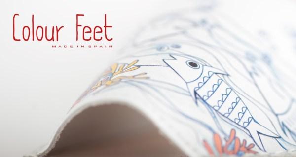 Menorquinas con dibujos Colour Feet.