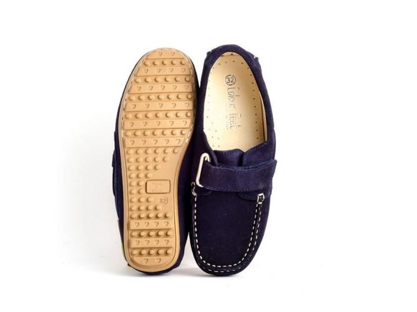 zapatos verano 2018 estilo naútico para niños y niñas color azul