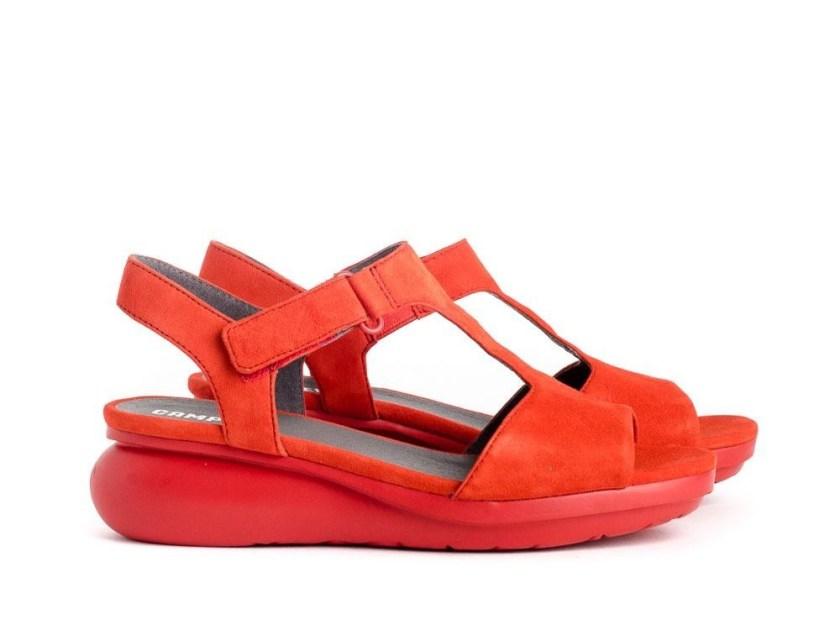 Sandalias rojas cómodas. Camper K200612-002