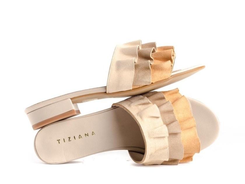 Sandalias de mujer planas con volantes Tiziana 1115