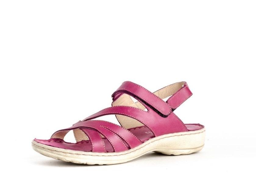Sandalias planas cómodas para caminar con velcro Walk & Fly 7325-16170