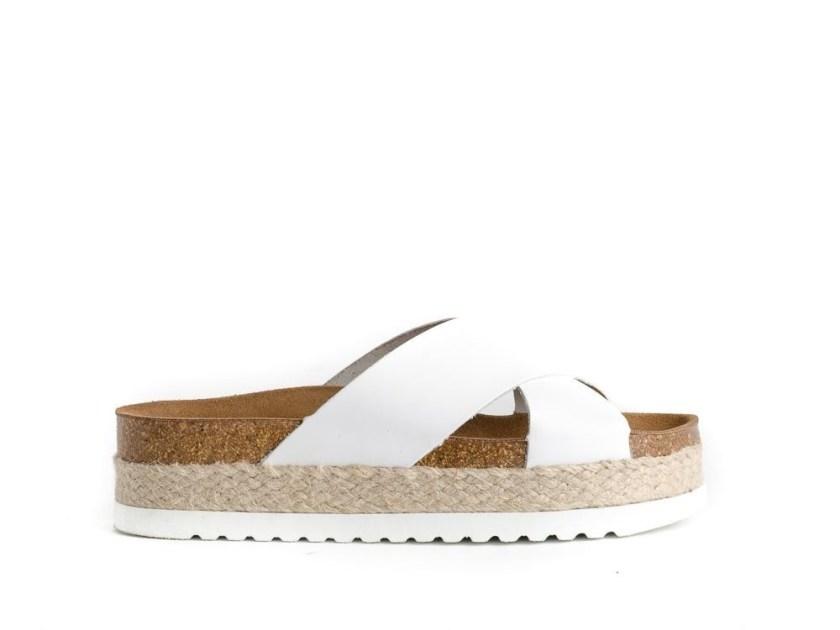 sandalias de plataforma de esparto blancas