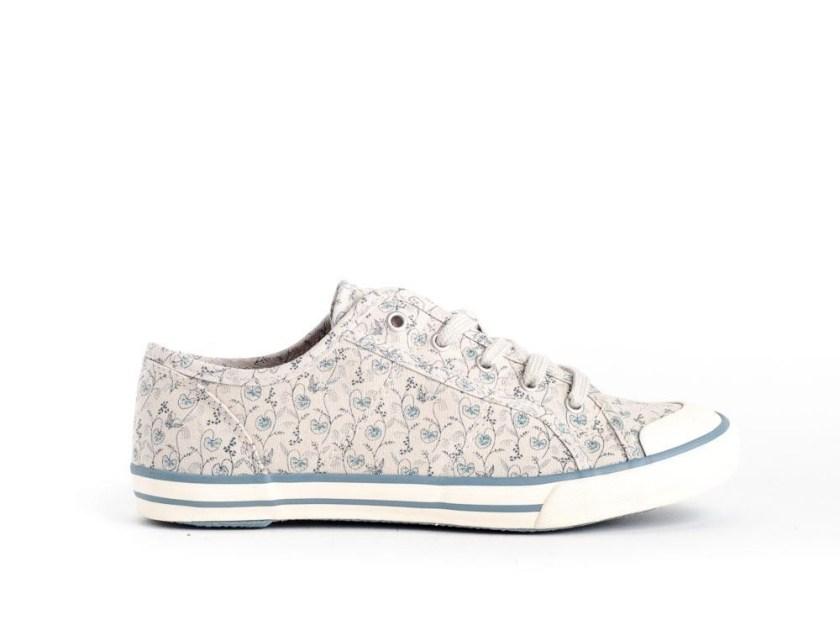 zapatillas estampadas estilo converse tonos azules