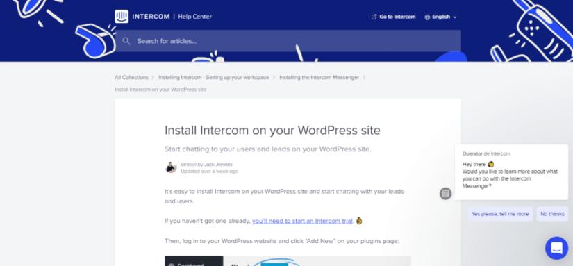 atendimento online wordpress